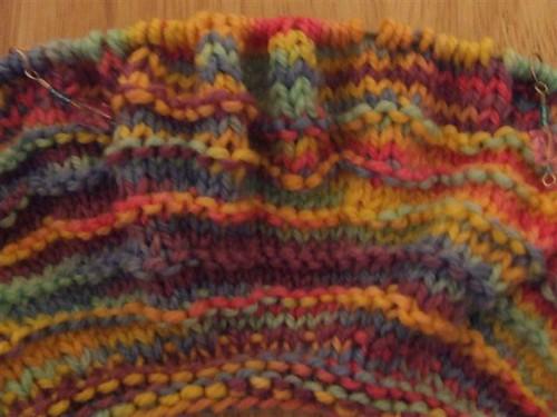 Beginning of Five Hour Baby Sweater