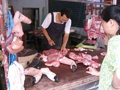 Butchering a Pig at Danshui Morning Market