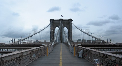 Brooklyn bridge panorama