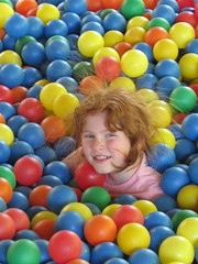 Carly in the Ball Bin