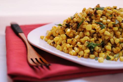 Corn with mustard