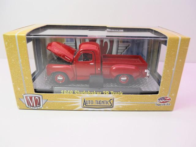 m2 autothentics 1949 studebaker 2r truck red