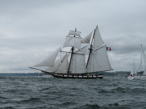 Brest 2008 : Sortie en mer - la Recouvrance