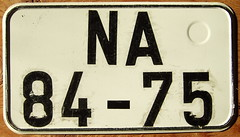 EAST GERMANY 1960's passenger TWO line plate