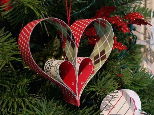 Paper Heart Ornament Tutorial  Reese Dixon