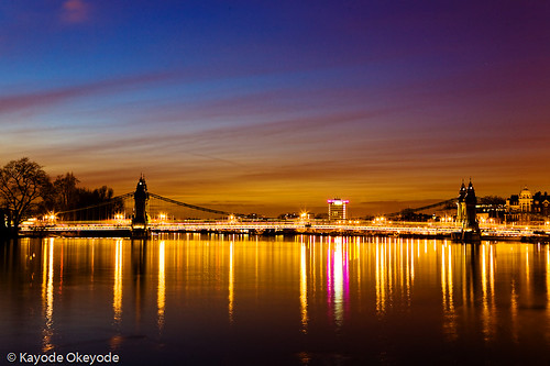Hammersmith Bridge Twilight