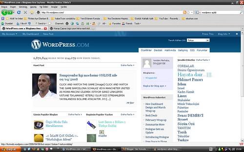 wordpress admin bloggerdal