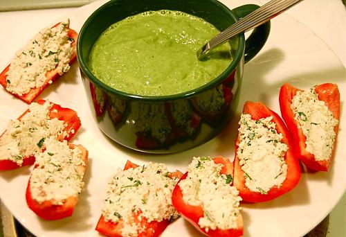 cucumber soup and not tuna pate
