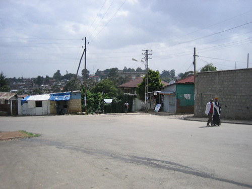 top of the '70 steps' in Addis, June 2008