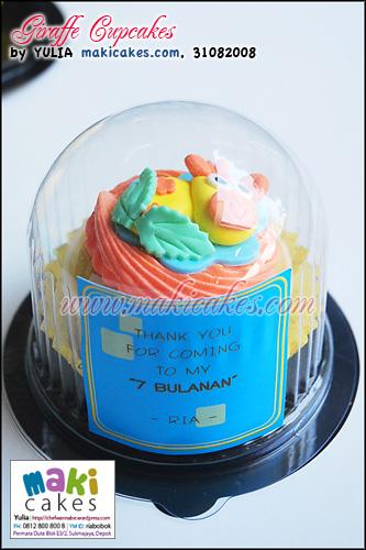 Giraffe Cupcakes Pack - Maki Cakes