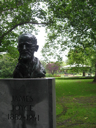 James Joyce bust in St. Stephen's Green, Dublin, Ireland