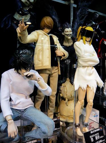 L, Light/Kira, Ryuk, Misa (from Death Note)