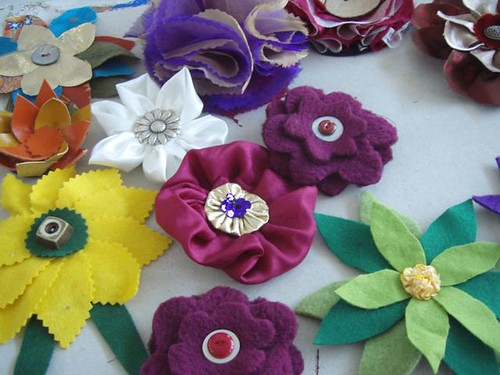 fabric flowers workshop RAC APRIl 2010 - 11