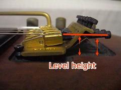 Changing string guage & adjusting a floating guitar bridge