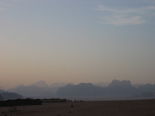 Sunrise in the desert, Wadi Rum, Jordan