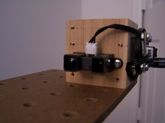 Image of Sensor mounted on mounting block.