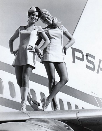Retro flight attendant outfitts