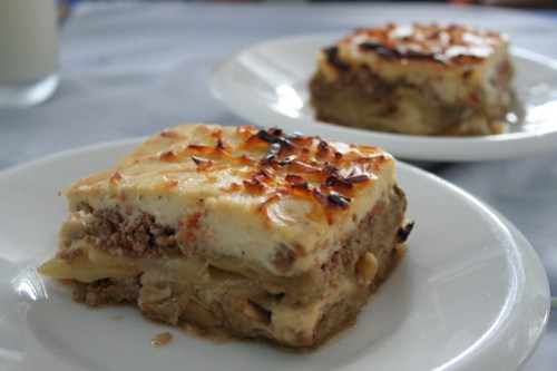 Moussaka at Greek Taverna