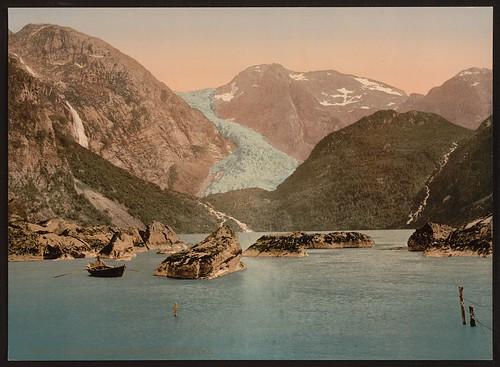 [Bondhus glacier and lake, Hardanger Fjord, Handanger, Norway] (LOC)
