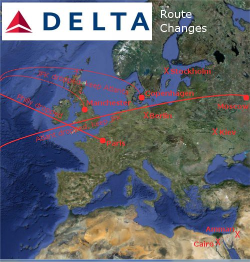 Delta Increases Reliance On Partners Cuts Transatlantic Flights