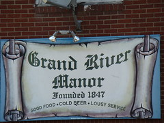 Grand River Manor - good food cold beer and lousy service - ashtabula, oh