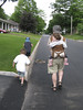 walking to the park