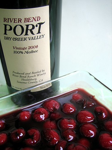 Sour Cherries in Port