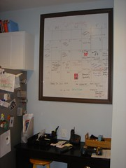 Whiteboard with desk