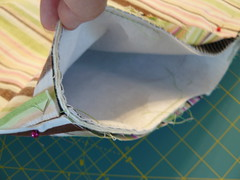 Pin and Sew together