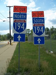Detour north and south