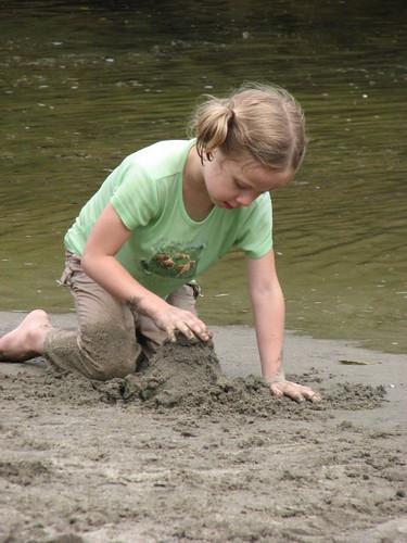 Emily at creek