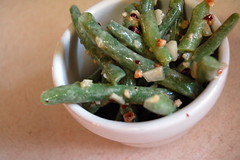 Hazelnut green bean salad