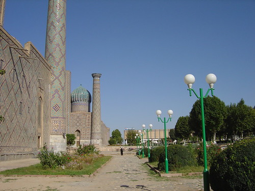 A view of the Registan in Samarkand, Uzbekistan