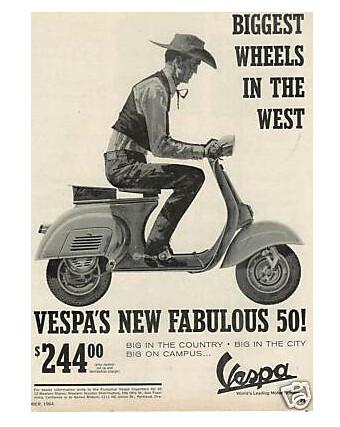 Vintage Vespa Ad by VespaLexington.