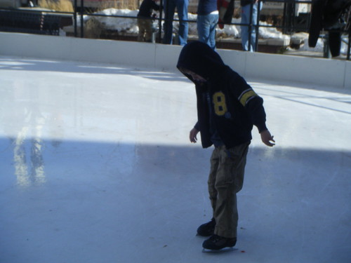 Andrew ice skating