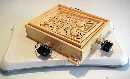 Arduino Powered WiiFit Controlled Labyrinth Game