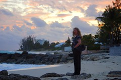 Laura at Sunset on Bahamas