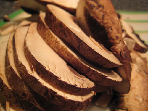 Sliced Portobello Mushrooms