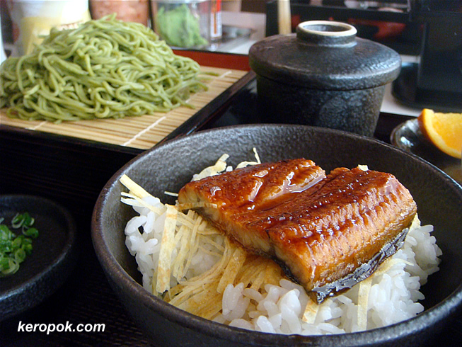 Unagi with Rice and Cold Soba
