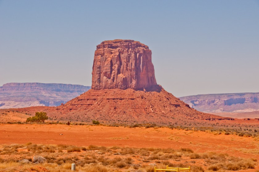A butte in Monument Valley
