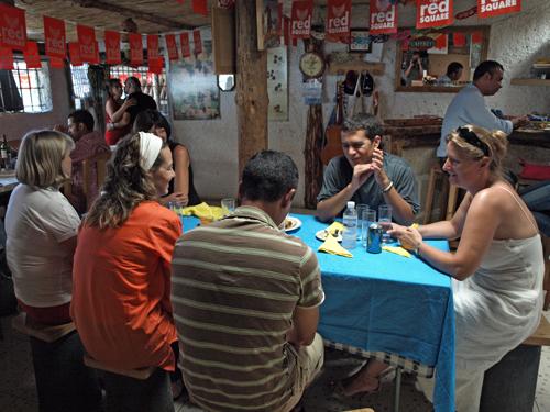 Peruvian lunch in an 'informal' setting