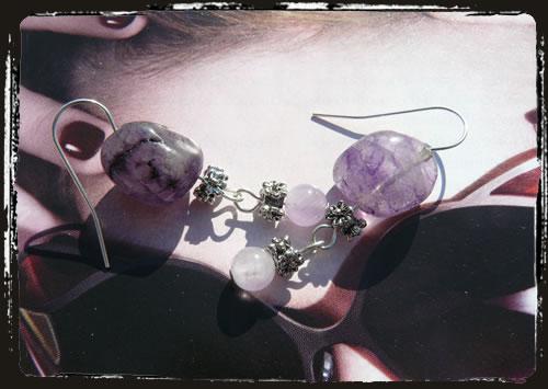 Orecchini viola - Purple earrings MEHGQVI