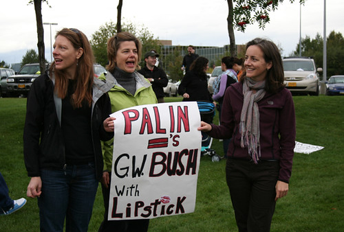 Palin = G.W Bush with lipstick