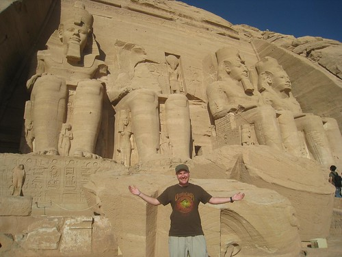 Photo with the four big statues of Ramses II