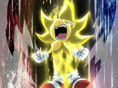 I mean, Sonic can go Super Saiyan. Mario can turn into a penguin at best.