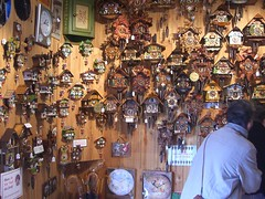 Wall of Cuckoo Clocks - German Cuckoo Clocks N...
