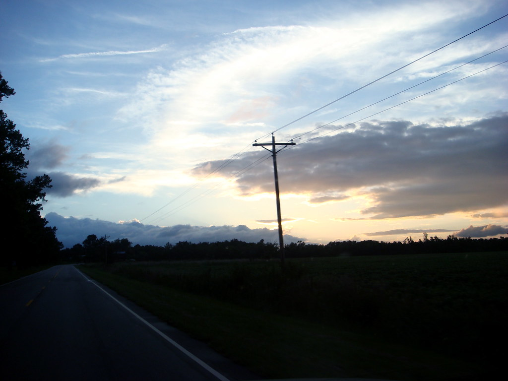 Sunset on the way home, one