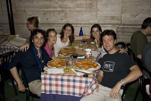 Gianluca, Bea, Mariela, Gemma y yo