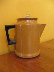 Vintage Coffee Pot - Gold