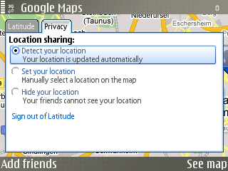 Google Latitude Privacy Settings